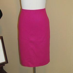 Talbots Fuchsia Wool Felt Skirt Size 10